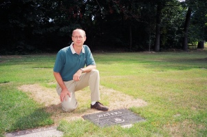 Fred at Dad's grave