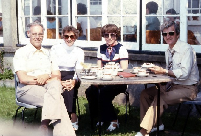 Dad, Mom, Dorothy and Ted in England